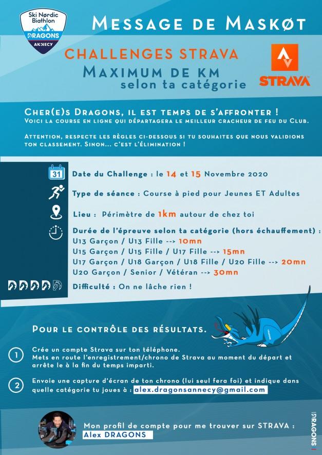 Challenge Strava Dragons Annecy